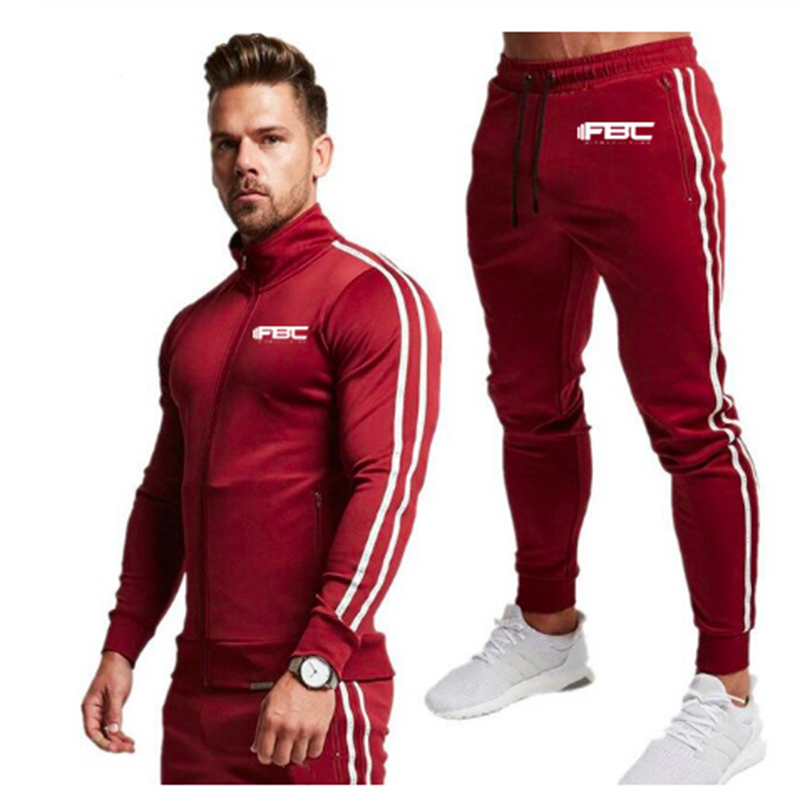 New Brand Clothing Men's Casual Sweatshirt Set Cotton Men's Sportswear Hooded Jacket + Jogging Pants 2 Sets Of Men's Casual Suit