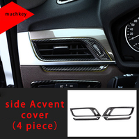 For BMW X1 F48 2016-2019 carbon fiber side Ac vent cover molding trim 4pcs