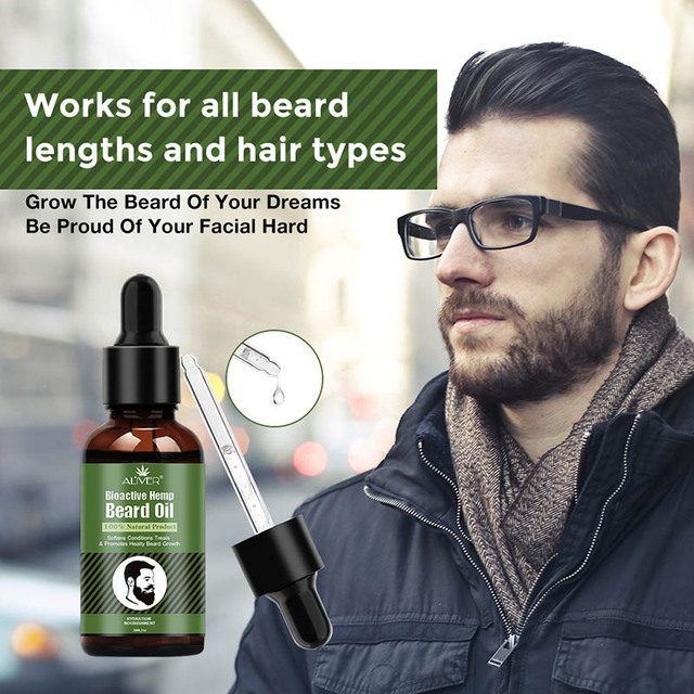 Hemp Oil Beard Growth Men's Beard Hair Growth Products Hair Conditioner Leave-In JIU55 3
