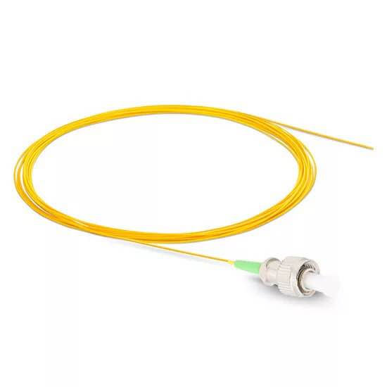 50PCS FC APC Single Mode Fiber Optic Pigtail 1M 9/125 Single Mode Optical Fiber Pigtail 0.9mm PVC Jacket