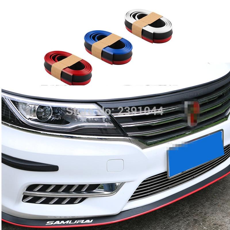 Universal 98 Car Front Bumper Rubber Skirt Protector Lip Splitter Body Spoiler
