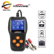 KONNWEI KW600 12 V Tester akumulatora samochodowego 100 do 2000CCA 12 V bateria narzędzia do samochodu szybkie kręcenie ładowania zdiagnozować skanowanie kodów