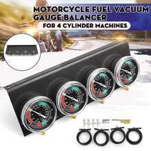 دراجة نارية الوقود فراغ المكربن كارب مزامن مزامنة مقاييس 4 Carb الموازن مقياس كيت لهوندا/ياماها/سوزوكي