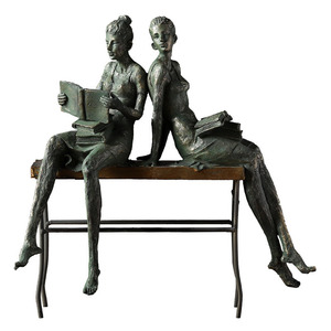European Bronze Reading Girl S