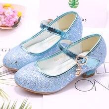 Ulknn/детская обувь принцессы для девочек; босоножки на высоком