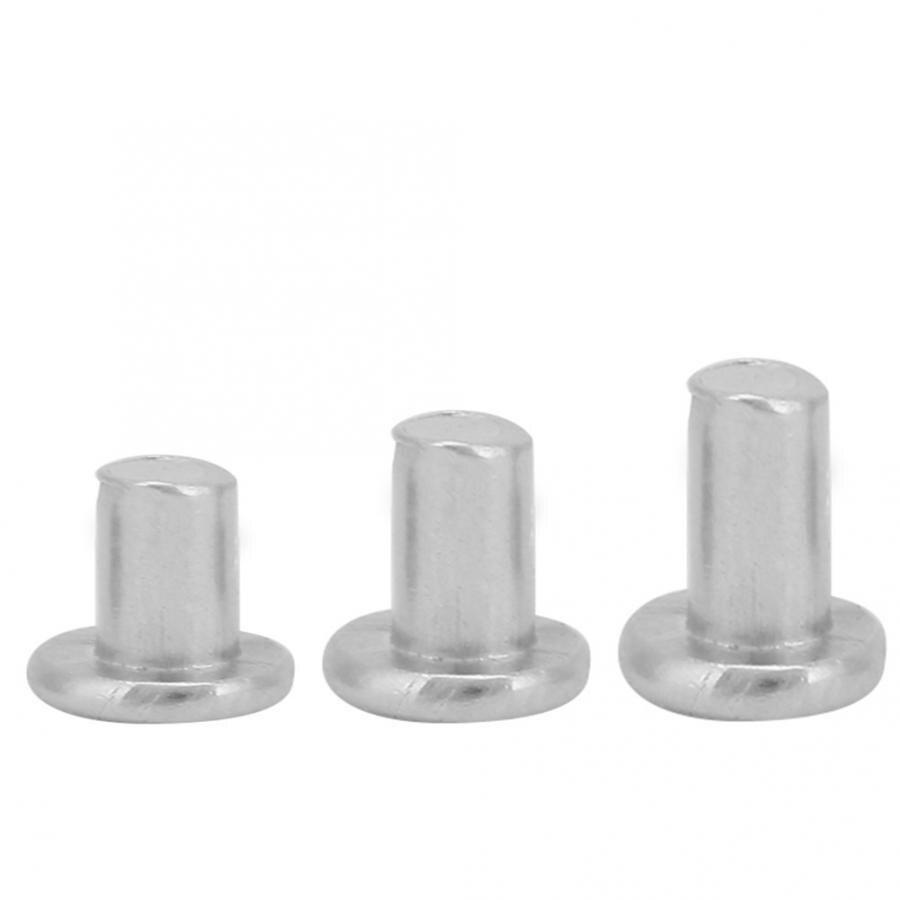Countersunk Rivets 100pcs M2.5*3/4/5mm Flat Head Aluminum Solid Higher Mechanical Strength