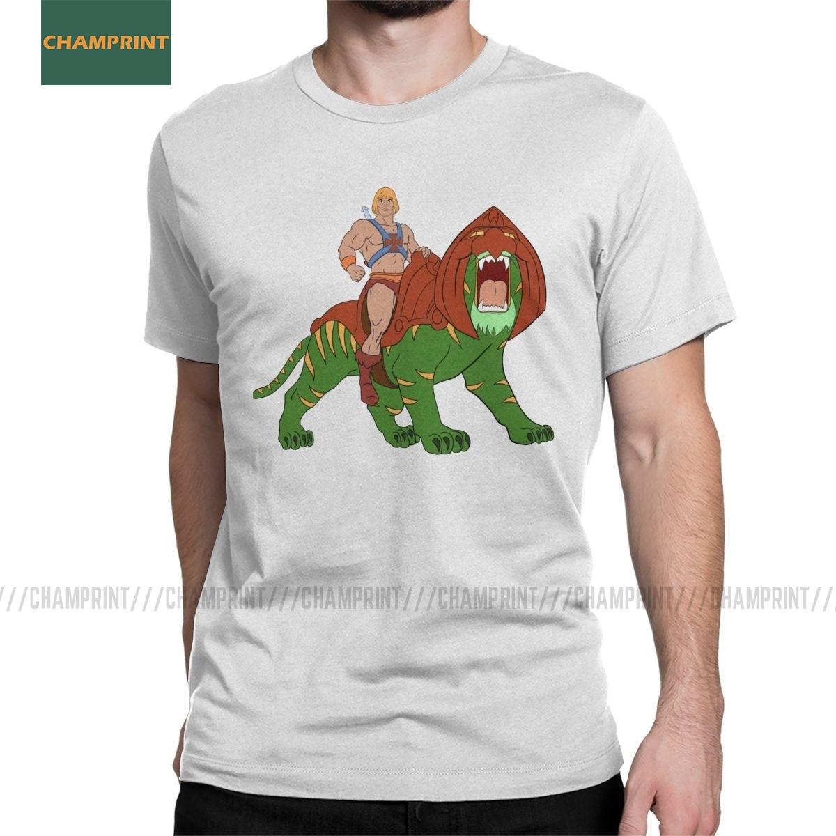 He man T-Shirt masters of the universe retro tee mens top 80/'s cartoon classic
