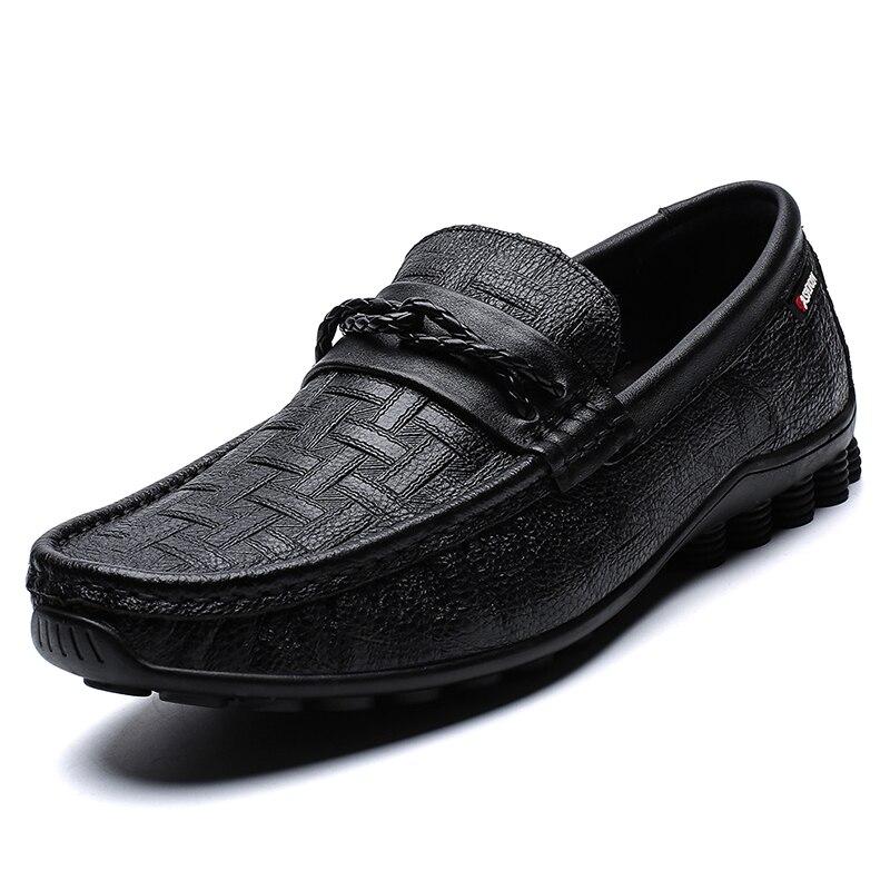 Spring Genuine Leather Slip On Men Shoes Loafers Mocassin Homme Mocasines Designer Driving Shoes Casual Flats