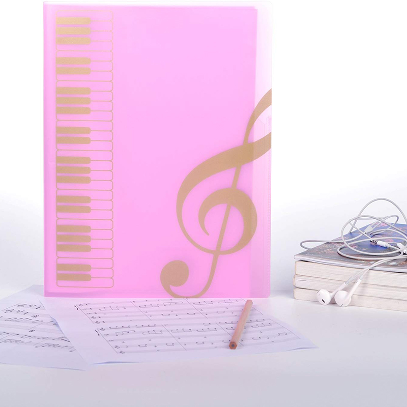 1 Pcs Score Folder, Band Folder, Musician Writable Folder, Spiral Binding A4 Size 20 Sets, 40 Pages