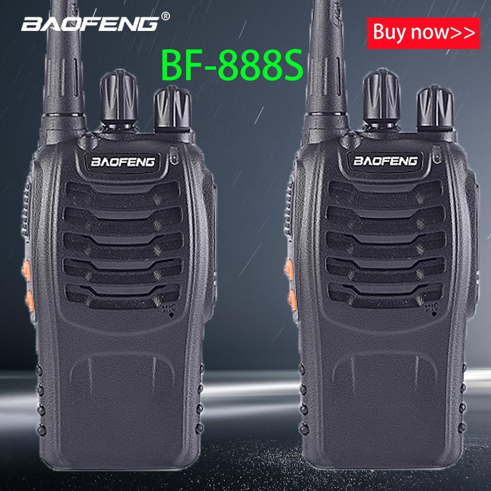Baofeng 1PC /2PCS Bf-888s Walkie Talkie Radio Station UHF 400-470MHz 16CH 888s CB Radio Talki Walki BF 888s Portable Transceiver