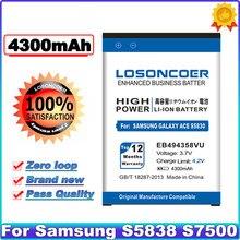 EB494358VU 4300mAh Para Samsung Galaxy Ace Além disso S5838 S7500 S5830 S6802 B7510 i569 i579 i619 S5660 S6102 S6108 S5830I Bateria