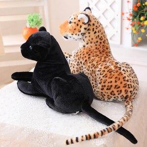 Image 3 - 30 120 см гигантская черная леопардовая пантера Плюшевые игрушки Мягкая мягкая подушка для животных кукла для животных Желтый Белый тигр игрушки для детей