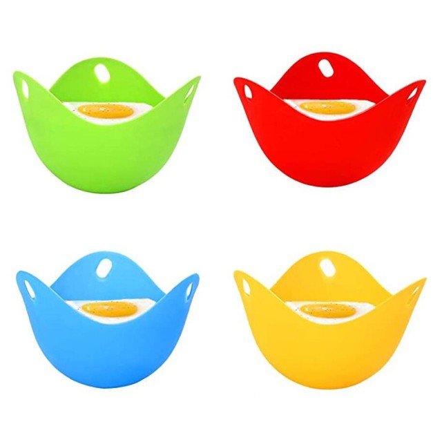 Silicone Egg Poacher Poaching Pods Pan Mould Egg Mold Bowl Rings Cooker Boiler Kitchen Cooking Tool Accessories Gadget #40 4