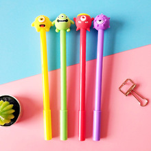 New monsters university Big Eye 3D head water pen refillable student cute monster expression black gel