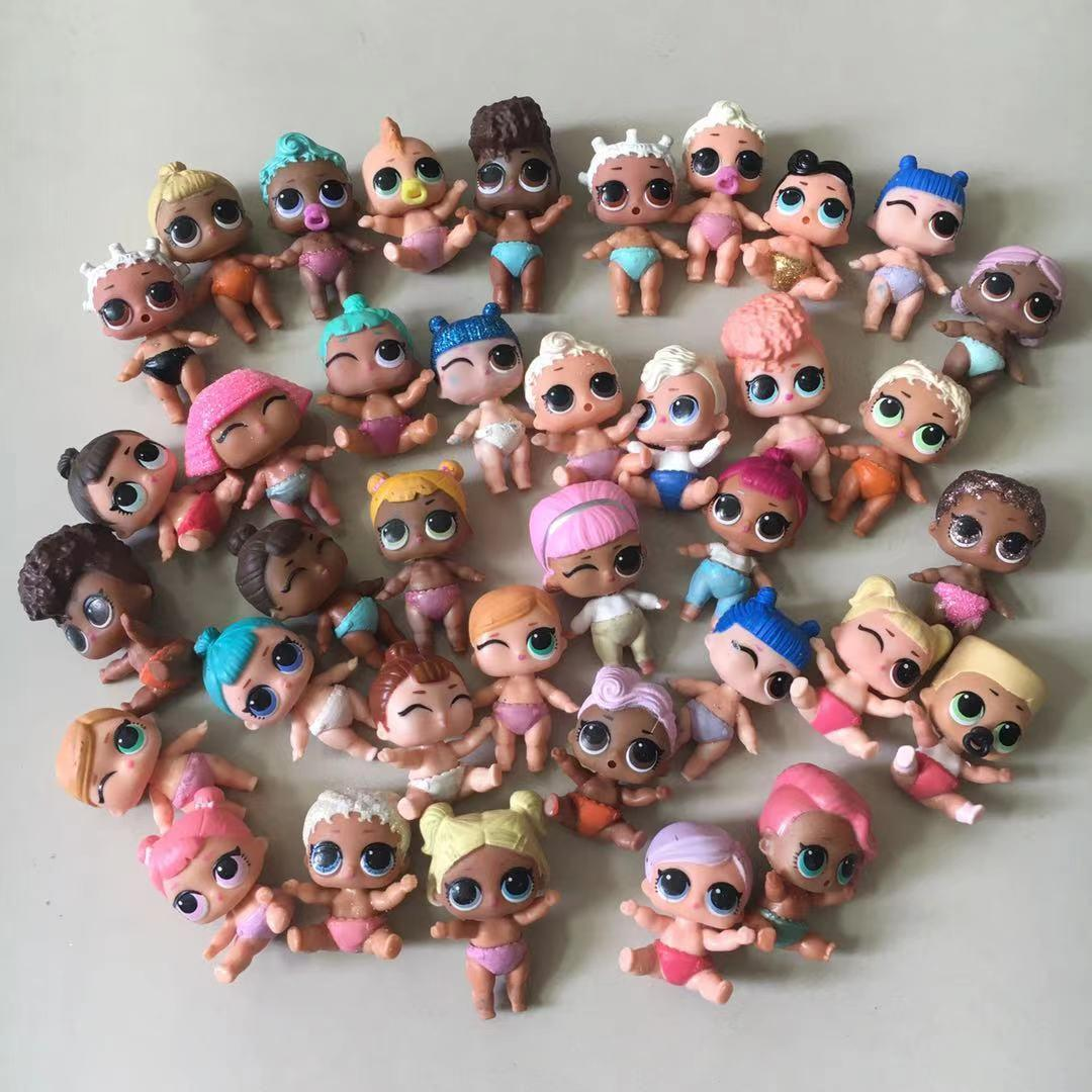 Случайный 5/10 шт. L.O.L. Сюрприз! Куклы для маленьких сестер, милые куклы для девочек, 4 см, Лил, сестра, меняющие цвет, игрушки для детей, подарки