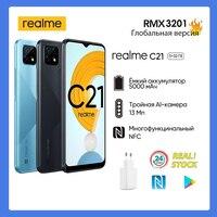 [RU Version] realme C21 4 + 64 GB Smartphone  [NFC, capacious battery 5000 mAh, triple AI camera 13 MP, fingerprint scanner] 1