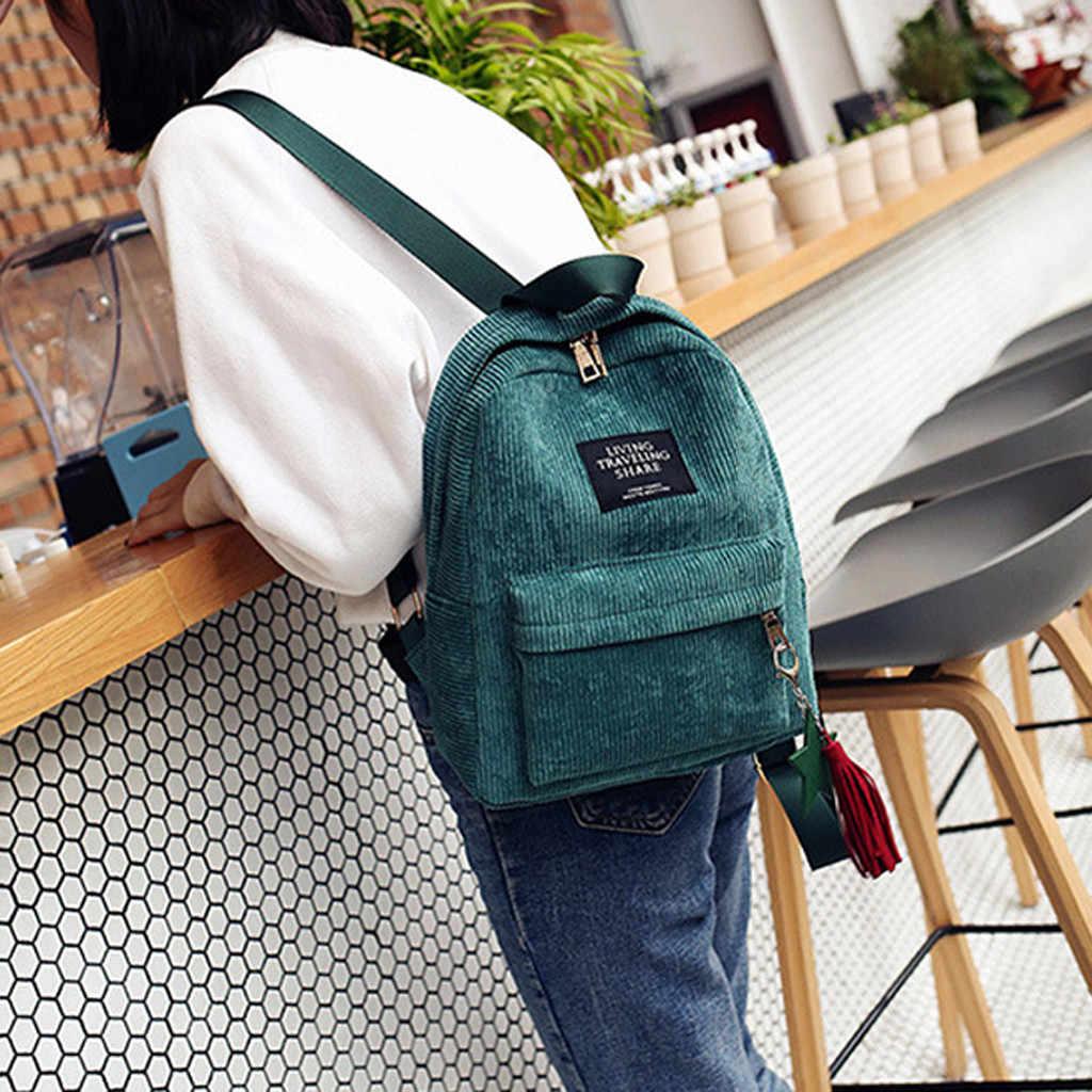 25 # Maison Fabre Donna di Modo Mini Semplice di Velluto A Coste Zaini signora Campus Stile di Colore Puro capacità Per Il Tempo Libero Doppio sacchetto di spalla