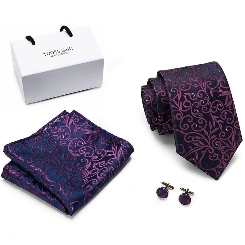 Luxury Floral Paisley Mens Blue Red Tie Gravata Pour Homme Male Silk Ties For Men Business Wedding Necktie 8 Cm Wide