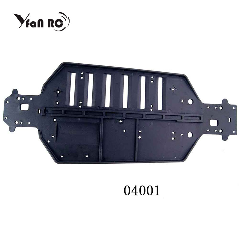 RC car 1/10 HSP <font><b>04001</b></font> Plastic Chassis For RC 1/10 Off-Road HSP Original Parts,For a variety of models image