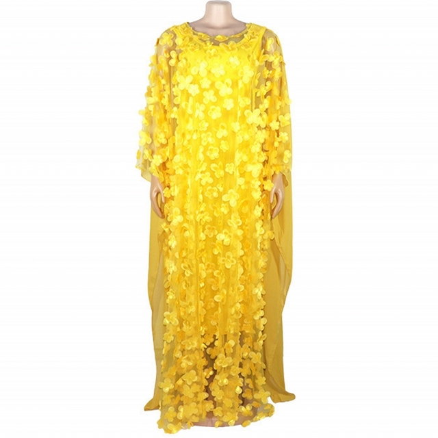 2019 autunno Super Size New African Dashiki delle Donne di Modo Allentato Del Ricamo Abito Lungo Vestiti Vestito Africano Per Le Donne Africane
