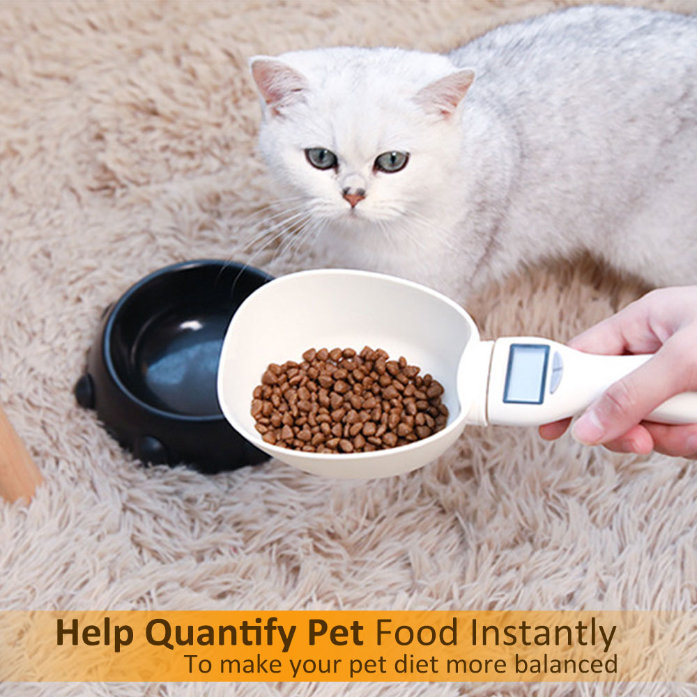 Pet Food Measure Spoon 250ml Pet Food Scale Cup for Dog Cats Feeding Electronic Food Measuring Weighing Spoon Kitchen Scale image