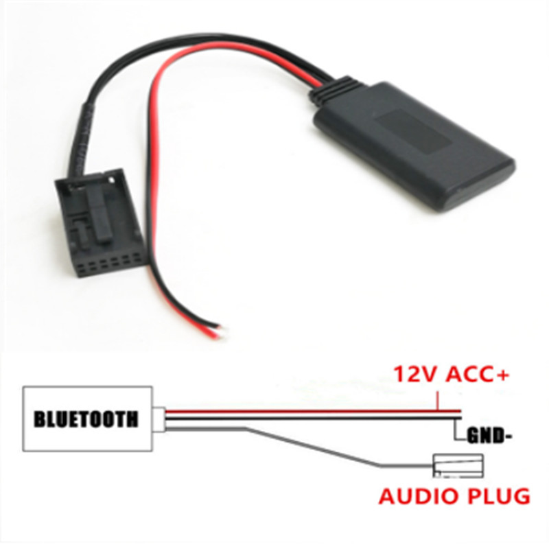 IDEAUIDO Car Bluetooth Module AUX-in Audio MP3 Music Adapter 12Pin Port For Ford Focus Mondeo 6000CD Mk2MK3Fiesta image