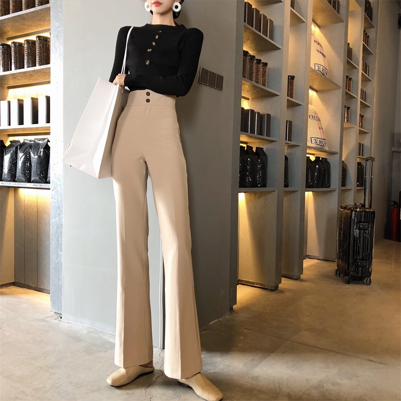 Long Pants For Women High Waist Summer Fashion Elegant CasualStraight Trouser