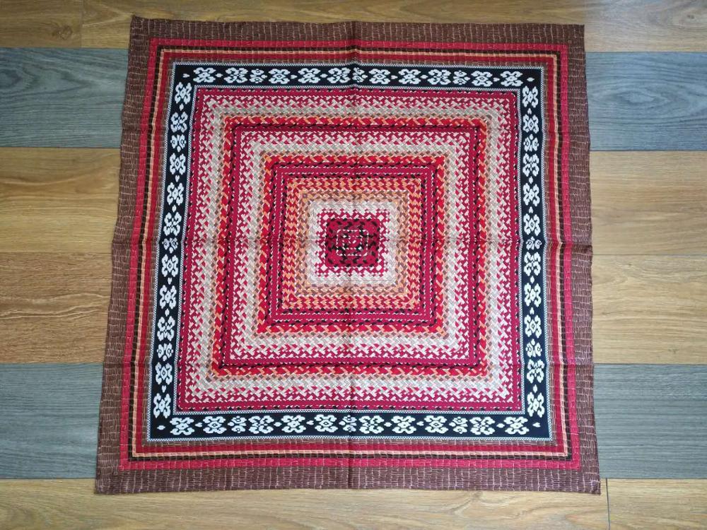 2020 fashion elegant flower 100% silk scarf 90*90 cm square shawl hand made roll wrap for women lady free shipping