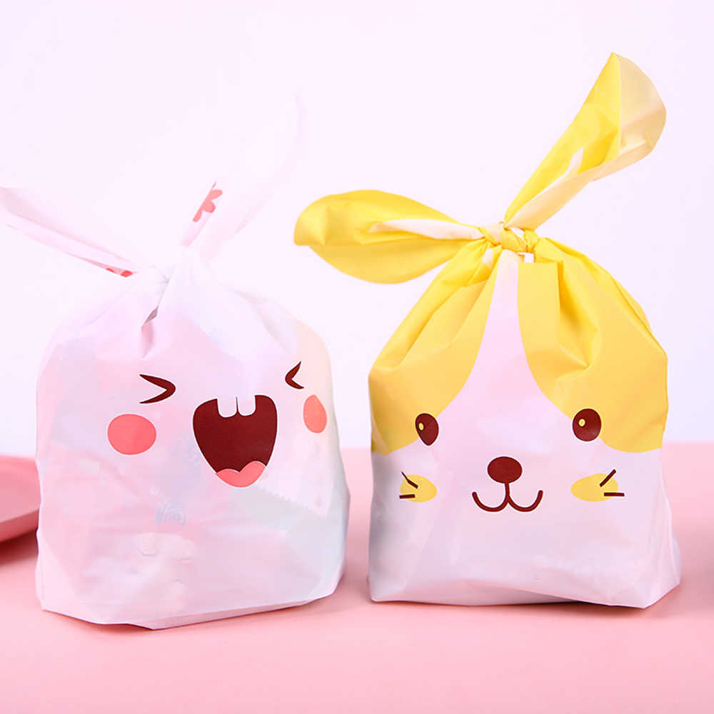 10pcs Rabbit Ear Cake Bag Gift Bag Candy Biscuit Snack Baking Packaging Wedding Gift Christmas Decoration Baking Tools