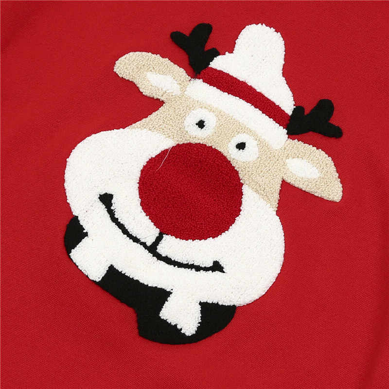 คริสต์มาสครอบครัว Top ผู้หญิงผู้ชายเด็กสาวเด็กเสื้อกันหนาวเสื้อกันหนาวครอบครัวเสื้อเสื้อผ้า