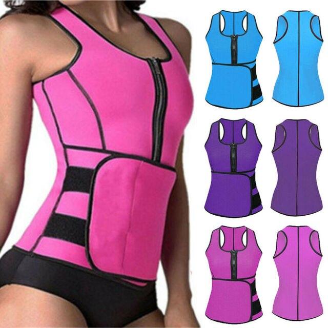 Lady Sauna Waist Trainer Vest Adjustable Slimming Sweat Belt Body Shaper Workout Trimmer Trainer Belt Fitness Shapewear 1