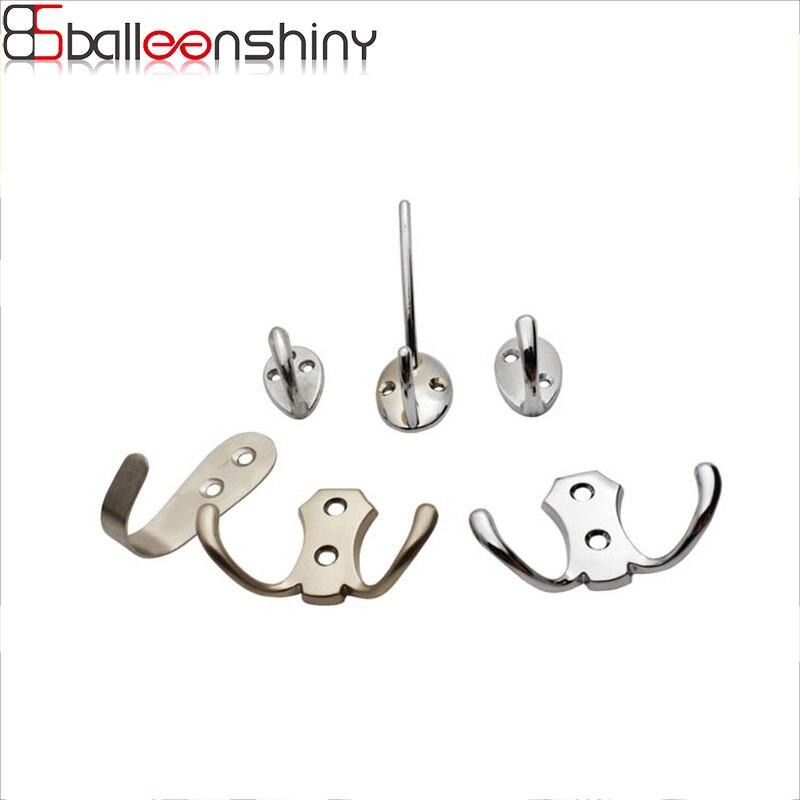 BalleenShiny Wall Door Zinc Alloy Antique Hook Hanger For Key Clothes Coat Hat Bag Towel Bedroom Bath Hanging Accessories