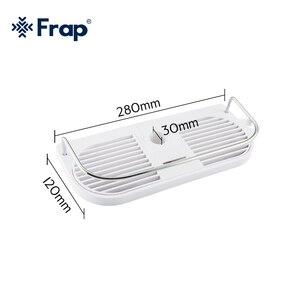 Image 2 - FRAP 욕실 선반 벽 마운트 목욕 홀더 랙 목욕 하드웨어 액세서리 욕실 교수형 스토리지 랙