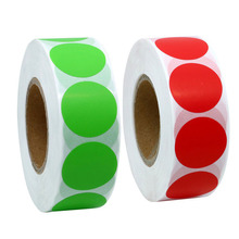 купить 500 Total color coded label sticker blank round Colorful Stickers permanent adhesive dot writable paper label sale price Supplie дешево