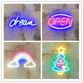 Tipo completo de néon sinais usb para led neon pub legal luz parede arte quarto bar decorações casa acessórios festa feriado néon pub
