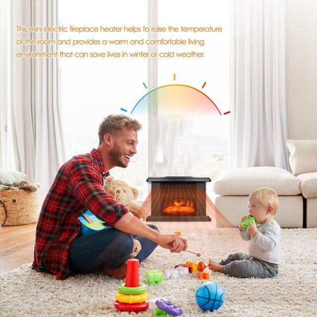 1000W Electric Fireplace Heater 4