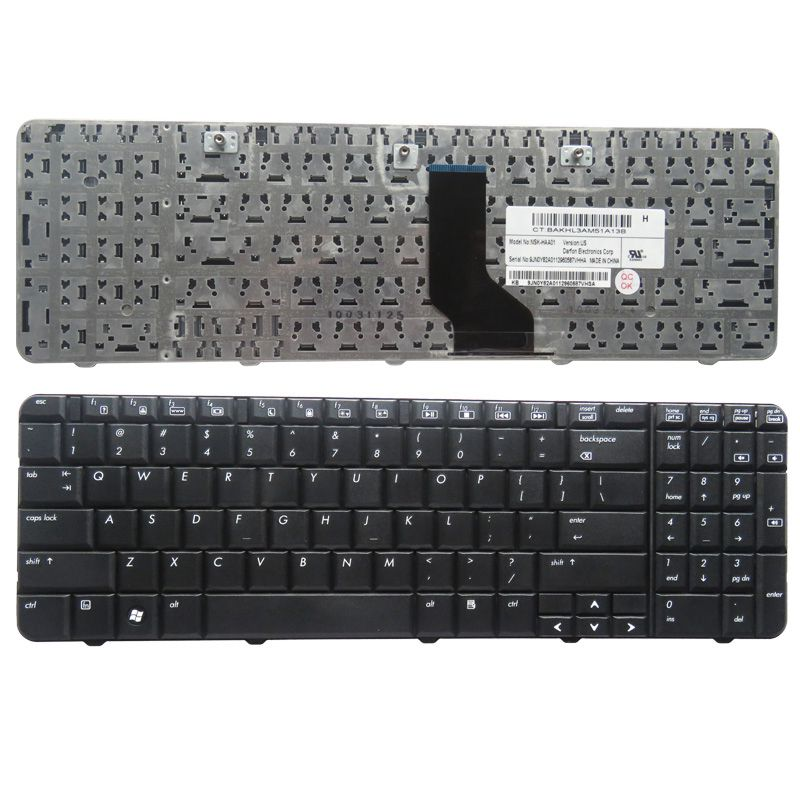 GZEELE New English Keyboard For HP CQ60 CQ60-200 CQ60-100 CQ60-203 430 205 136 310 409 410 115 427 CQ60-300 G60 US Layout Black