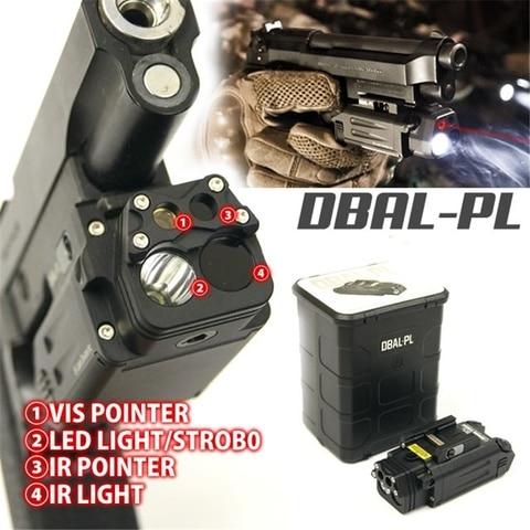 tatico de aluminio cnc dbal pl arma luz ir ponteiro laser vermelho levou lanterna arma