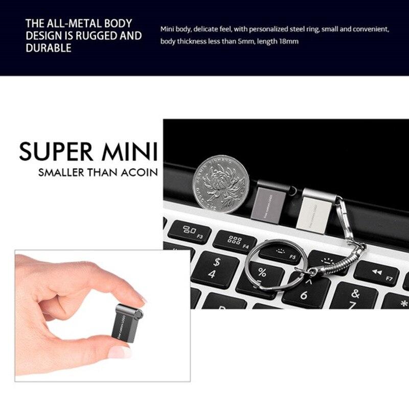 super mini usb flash drive 32gb 4gb2.0  metal usb stick 16gb 64gb 128gb pendrive 8gb flash memory stick cle usb Free custom LOGO (3)