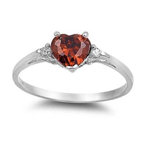 Mejor venta anillo de corazón de melocotón diseño de moda mujer amor corazón en forma de circonita diamante Chapado en cobre anillo de plata joyería de moda