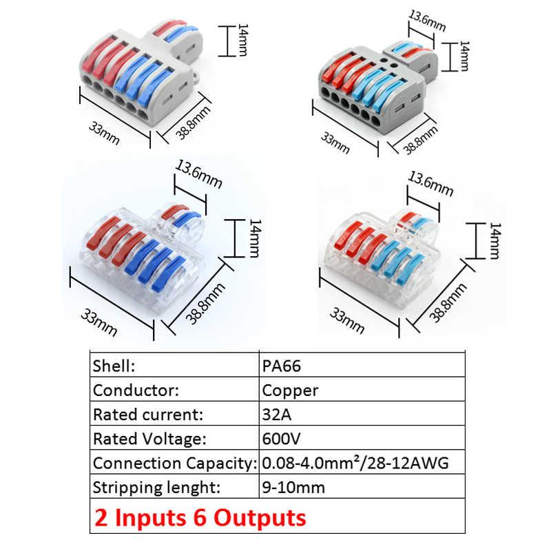 Connecteur De Câblage Universel Pour Câblage Type Transparent Bornier à Insertion Rapide Lt 422t 623t Spl 42t 62t Aliexpress