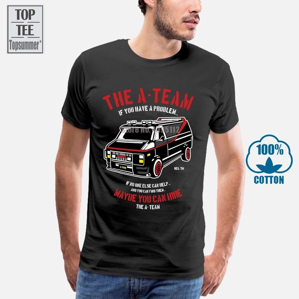 Забавная Мужская футболка для ТВ-программ A Team Van в стиле 80-х