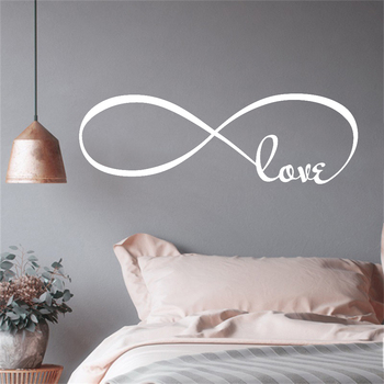 Bedroom Wall Decals Symbol Of Infinity Love Romantic Stickers Home Decoration Accessories For Living Room Vinyl Murals Y561 1