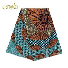 Buy 6 Yards African Wax Prints  Fabric   100% Cotton Fabrics Material Dashiki Printed Real Floral for Dress A000530 directly from merchant!