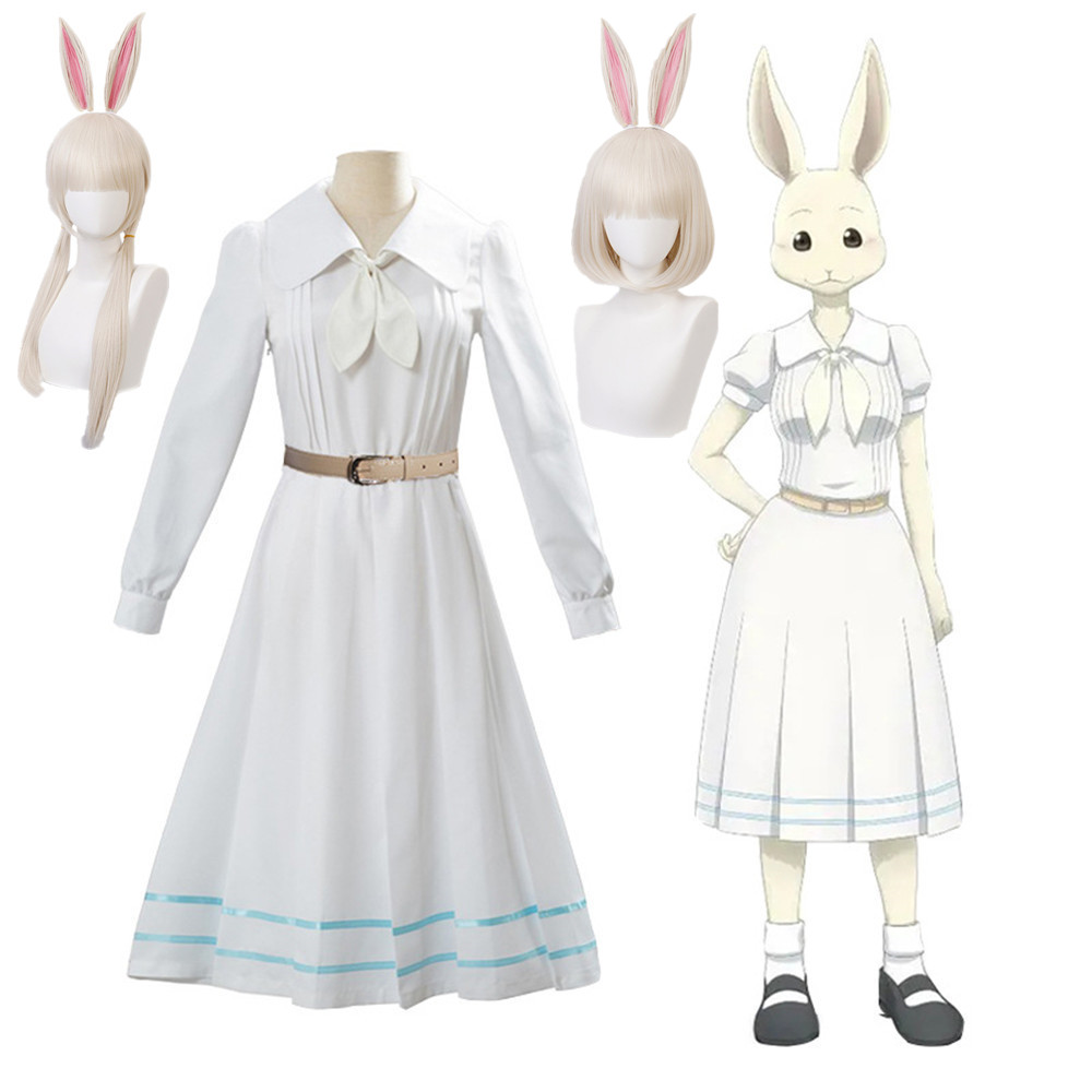 Anime Beastars Haru Cosplay Costume Girl Women School Uniform Costume Rabbit Uniform Outfit BEASTARS Haru Wig Bunny Rabbit