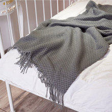 Indoor/Outdoor Machine Wash Throwing Blanket Cashmere Blanket Shawl Cover Chair Sofa Beach Bed Tail Towel Decorative Blanket