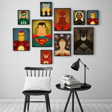 Nordic Super Heroes Movie Character Superman Batman Poster Canvas Oil Painting Living Room Decorative Painting Wall Art batman character encyclopedia