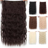 """AISI BEAUTY Long Clips in Hair Extension Synthetic Natural Hair Water Wave Blonde Black 22"""" 28'' For Women Hairpieces"""