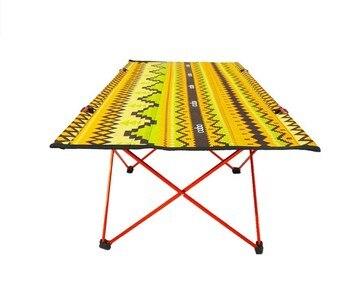 Outdoor Furniture Aluminium Alloy Folding Picnic Table Ultra-light Folding Table Portable Camping Road Trip Mountain Climbing