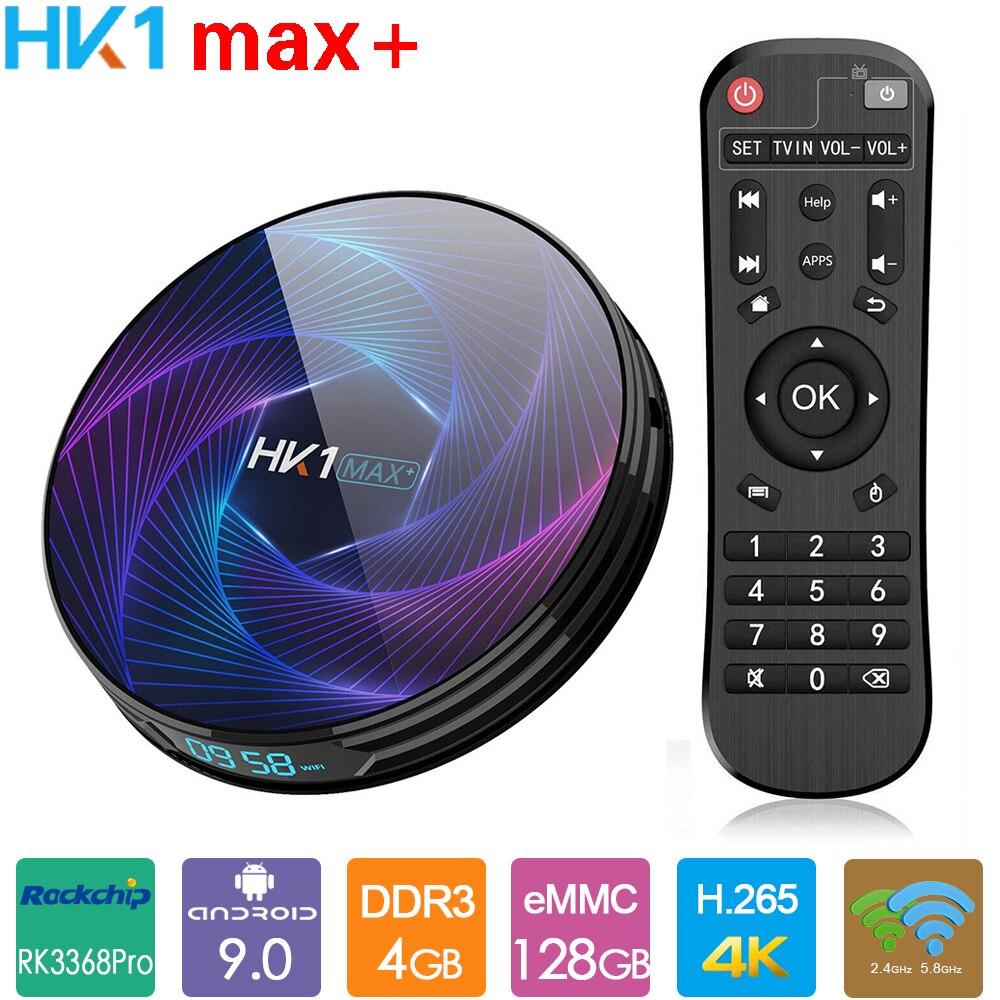 HK1max+ Smart TV Box Rockchip RK3368Pro Android 9.0 TV Box 4GB 32GB 64GB 128GB 2.4G 5G WiFi BT4.0 4K Media Player HK1 Max Plus(China)